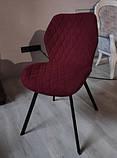 Мягкий стул M-40 бордо на черных ножках Vetro Mebel (бесплатная доставка), фото 2