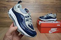 N1ke Air Max 98 Supreme синие кроссовки женские найк суприм кеды
