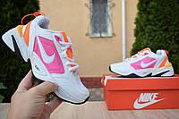 Nike Air Monarch белые найк кроссовки кросовки женские розовые