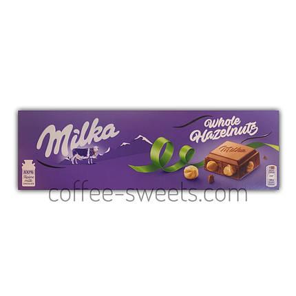 Шоколад молочный Milka Whole Hazelnuts 250g, фото 2