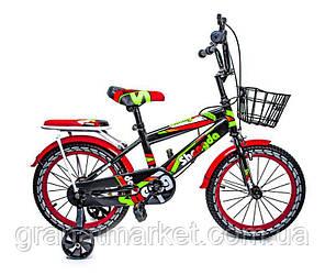 """Детский велосипед 16 \""""SHENGDA\"""" с ручным и дисковым тормозом T12 Черно-красный"""