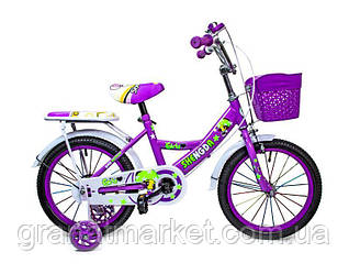 """Детский велосипед 16 \""""SHENGDA\"""" с ручным и дисковым тормозом T15 Фиолетовый"""