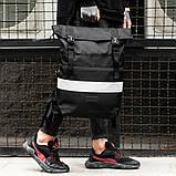 Рюкзак South ROLLTOP Black Classic reflective, фото 3