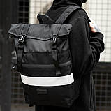Рюкзак South ROLLTOP Black Classic reflective, фото 4