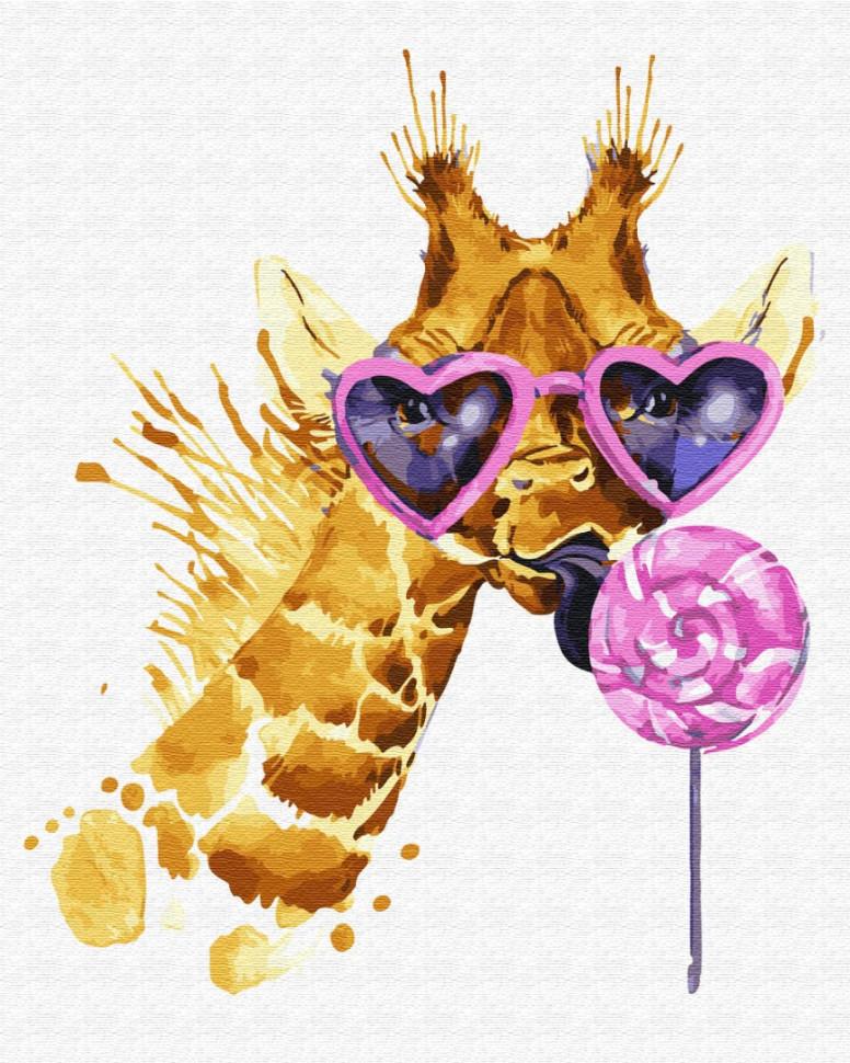 "Картина по номерам. Brushme ""Жираф сладкоежка"" GX28425"