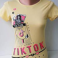 "Футболка для девочки ""TIK TOK"". Турция 7-12 лет, фото 1"