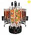 Шашличниця вертикальна електрична DOMOTEC на 6 шампурів 1000W, фото 3