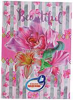 Классный школьный дневник, твердый переплет, цветы