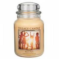 Ароматическая свеча Village Candle Пляжная вечеринка (время горения до 170 ч)