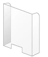 Защитный экран из прозрачного акрила 700*600 мм, толщина акрила 4 мм