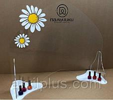 Защитный барьер для мастера маникюра с логотипом 800*600 мм, толщина акрила 4 мм