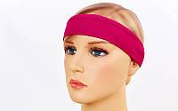 Спортивная повязка на голову Tactel Ежевичный (jsf-211-03)