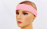 Спортивная повязка на голову Tactel Светло-розовый (jsf-211-05)