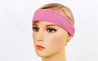 Спортивная повязка на голову Tactel Темно-розовый (jsf-211-05)