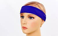 Спортивная повязка на голову Tactel Темно-фиолетовый (jsf-211-08)