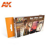 Набор красок для создания различных эффектов ржавчины и металлического скола. AK-INTERACTIVE AK551