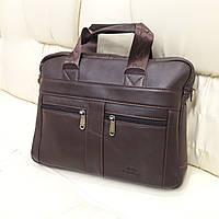 Чоловіча шкіряна сумка портфель