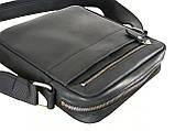 Мужская сумка через плечо GS натуральная кожа черная, фото 2