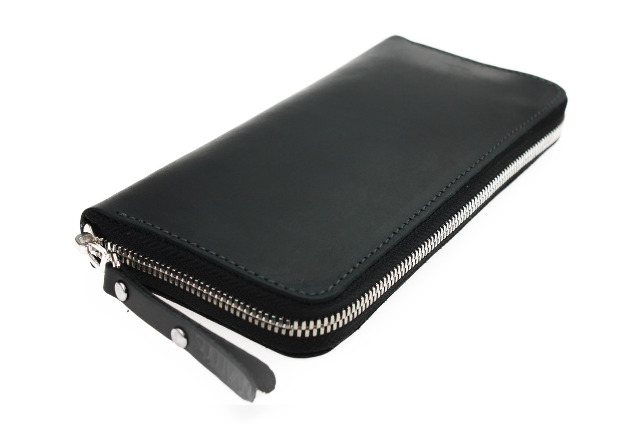 Кошелек мужской кожаный клатч большой travel SULLIVAN  kmk57-3(19.5) черный