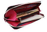 Кошелек женский кожаный клатч большой travel SULLIVAN  kgb82-3(19.5) фуксия, фото 2