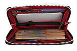 Кошелек женский кожаный клатч большой travel SULLIVAN  kgb82-3(19.5) фуксия, фото 3