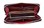 Кошелек женский кожаный клатч большой travel SULLIVAN  kgb82-3(19.5) фуксия, фото 4