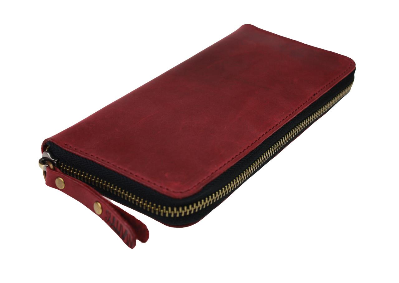 Кошелек женский кожаный клатч большой travel SULLIVAN  kgb85-3(19.5) марсала