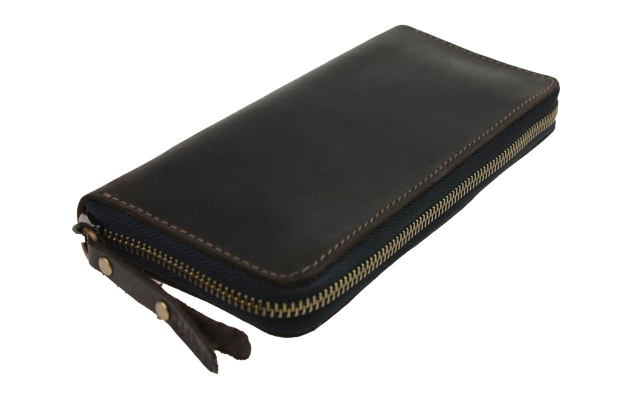 Кошелек женский кожаный клатч большой travel SULLIVAN  kgb88-3(19.5) коричневый