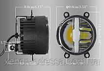 3 в 1 универсальные LED противотуманные фонари FOG White + Yellow M700 (подходят для 80% автомобилей), фото 3