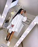 Свободное летнее платье с рубашечным верхом и длинным рукавом 20031296, фото 5