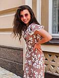 Летнее платье из штапеля с коротким рукавом и длиной миди 14031310, фото 2