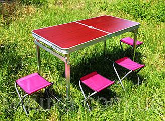 УСИЛЕННЫЙ раскладной удобный стол для пикника + 4 стула