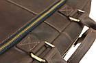 Сумка мужская для документов большая кожаная А4 SULLIVAN smg26(59) коричневая, фото 7