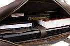 Сумка мужская для документов большая кожаная А4 SULLIVAN smg26(59) коричневая, фото 8