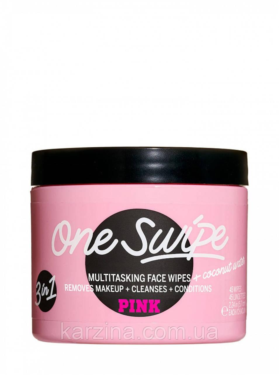 Универсальные салфетки для лица Victoria's Secret One Swipe Multi-tasking Face Wipes