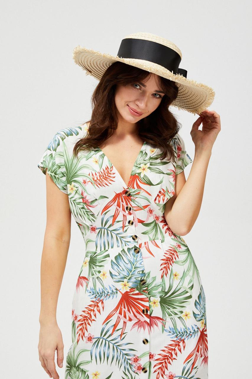 Соломенная шляпа женская MOODO L-CZ-3101 BEIGE