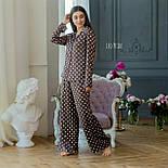 Шелковая пижама в горошек со штанами клеш и рубашкой 641982, фото 5