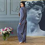 Шелковая пижама в горошек со штанами клеш и рубашкой 641982, фото 6