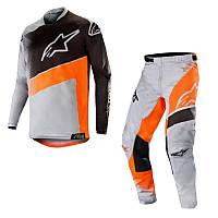 Джерсі штани Alpinestars Racer Supermatі Gray Orange L(p)