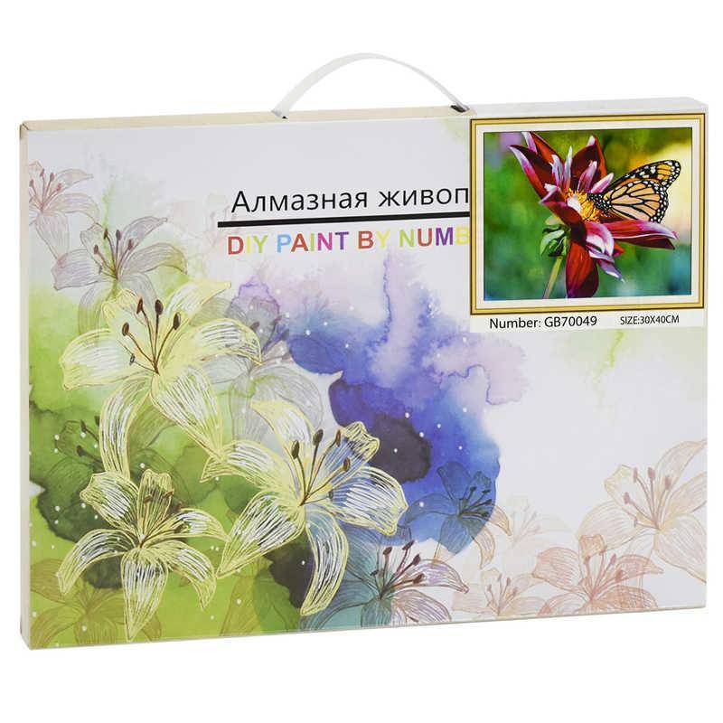 Алмазная мозаика GB 70049 (30) 40х30 см., 27 цветов, в коробке