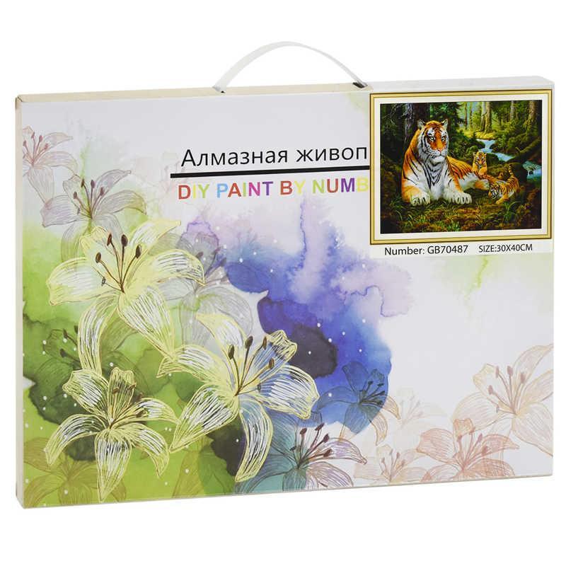 Алмазная мозаика GB 70487 (30) 40х30 см., 27 цветов, в коробке