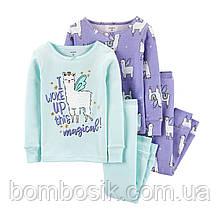 Піжама для дівчинки Carter's 1шт, 4Т (99-105см) - Бузкова