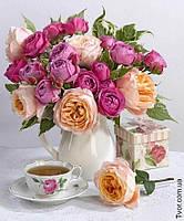 Картина алмазная мозаика Букет роз 1