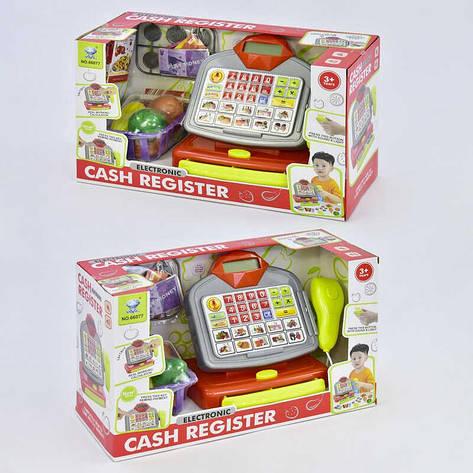 Кассовый аппарат 66077 (18/2) с корзиной, продуктами, звук, свет, на батарейках, в коробке, фото 2