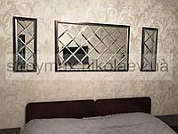 Зеркала настенные панно в плитке 150*150 серебро фацет 10мм
