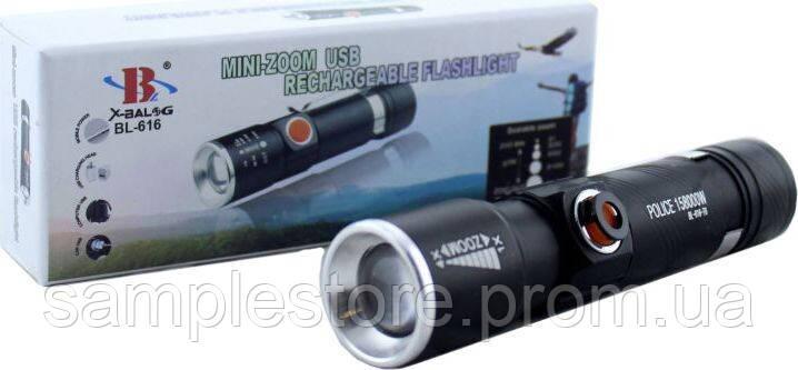 Фонарь BL 616 T6 USB