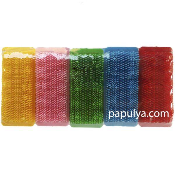 Щетка-пемза для ногтей цветная большая (9×3.5 см.)