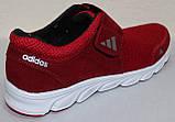 Кроссовки сетка красные мужские на липучке от производителя модель ЛМ100-4, фото 5