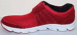 Кроссовки сетка красные мужские на липучке от производителя модель ЛМ100-4, фото 3