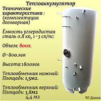 Теплоаккумуляторы, буферная емкость  из углеродной стали 800л в Харькове.